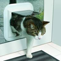 Cat Flaps fitted in Glass